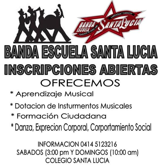 inscripcion banda santa lucia